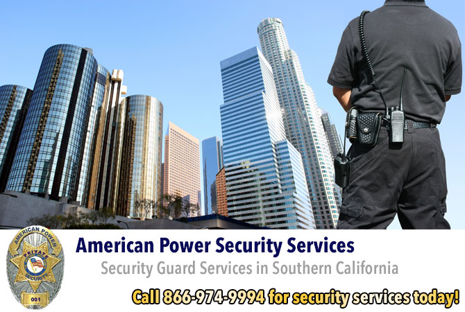 security guard services professional security services Green Valley California Los Angeles County