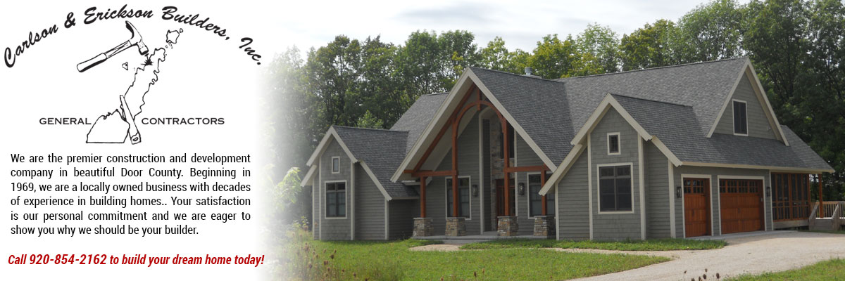 custom home builders  Juddville Wisconsin Door County