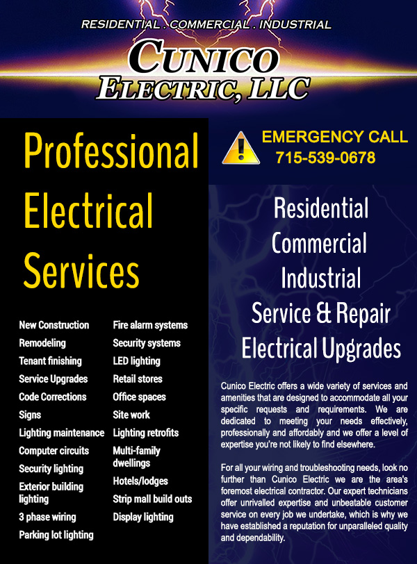 Master Electrician in Halsey Wisconsin.