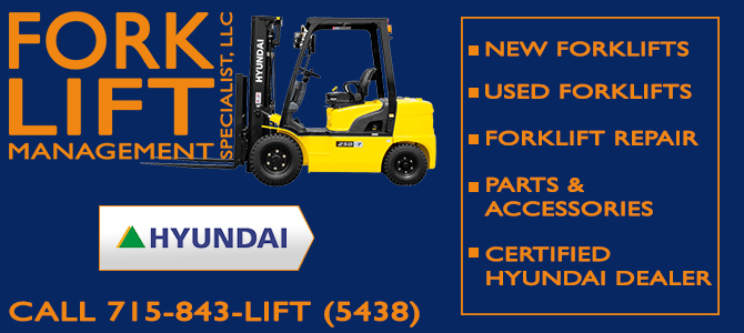 stand up forklift forklift attachments Little Eau Claire Wisconsin Marathon County