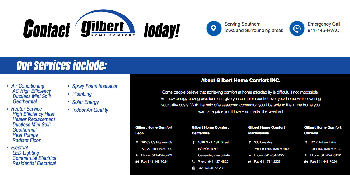 Heating and Cooling plumbing services Bellair Iowa Appanoose County