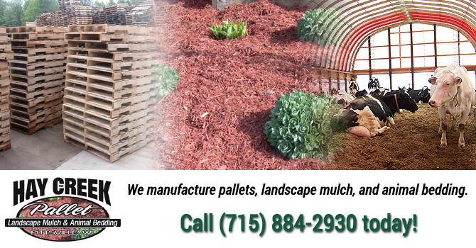 mulch pallets for sale Aurora Wisconsin Waushara County