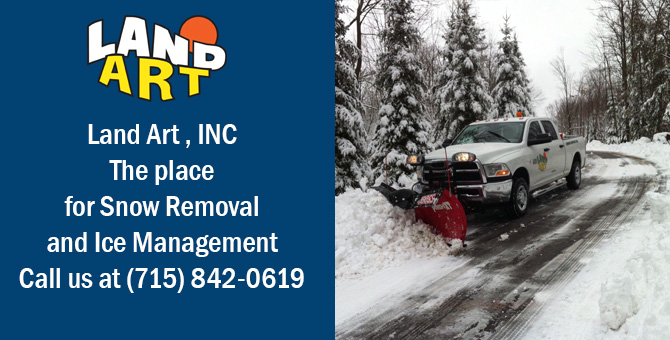 Snow plowing service  March Rapids Wisconsin Marathon County