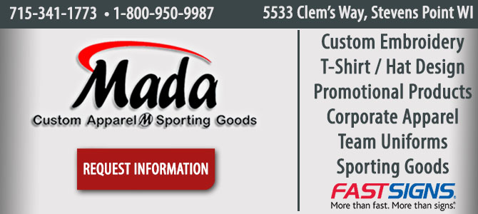 custom apparel custom sports apparel Stevens Point Wisconsin Portage County
