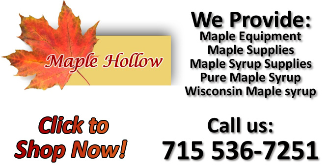 maple syrup supplies grade A maple syrup Minocqua Wisconsin Oneida County
