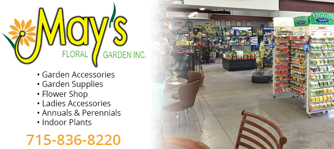 flower shop garden center Oak Grove Wisconsin Eau Claire County