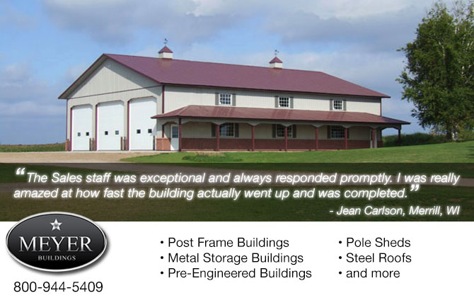 post frame buildings post frame building construction Stetsonville Wisconsin Taylor County