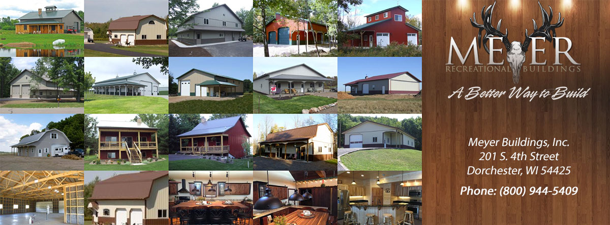Recreational Metal Buildings  Metal Buildings Polley Wisconsin Taylor County