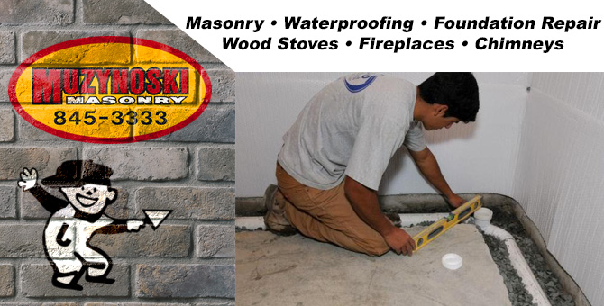basement waterproofing outdoor fireplace Kronenwetter Wisconsin Marathon County