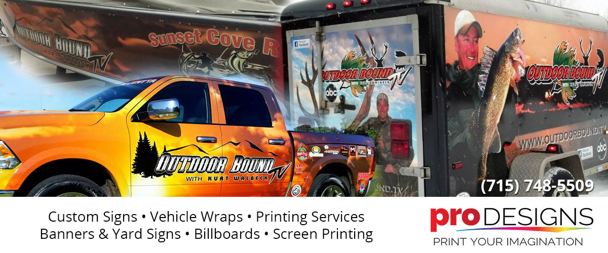 printing services vehicle wraps Goodrich Wisconsin Taylor County