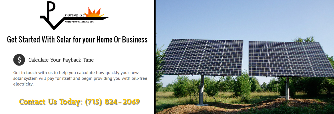 Solar Panel Installations  Chain O Lakes Wisconsin Waupaca County