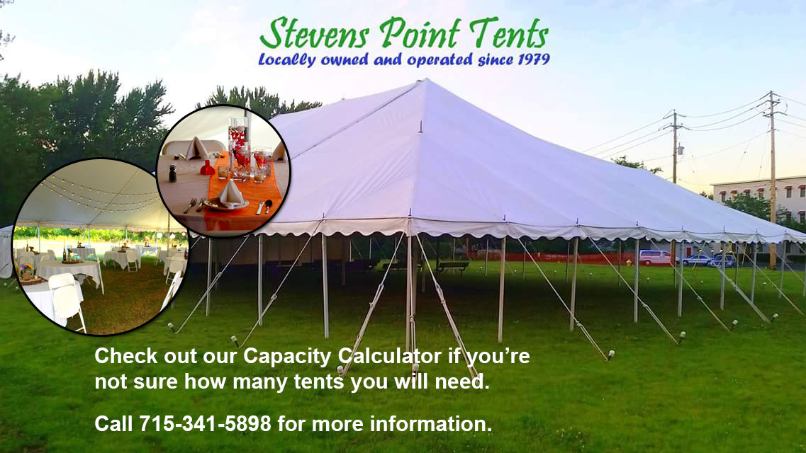 tent rentals outside wedding tent rentals Lake Emily Wisconsin Portage County