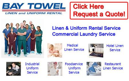 commercial laundry service uniform laundry service Door Creek Wisconsin Dane County