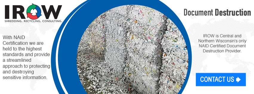 Document Destruction secure shredding Washington Wisconsin Vilas County