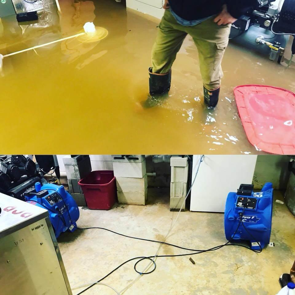 water damage restoration water damage cleanup Midland North carolina Mecklenburg County