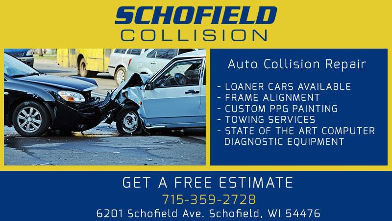 collision repair auto body repair Taegesville Wisconsin Marathon County