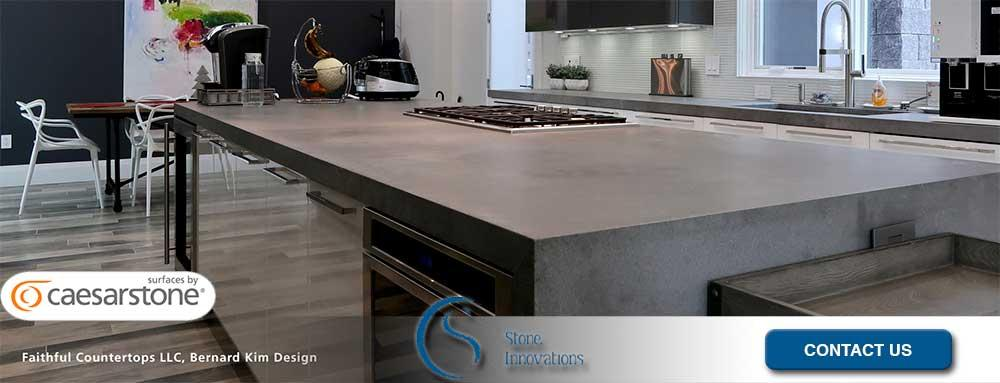 Ceasarstone Countertops Ceasarstone rugged concrete countertops West Almond Wisconsin Portage County
