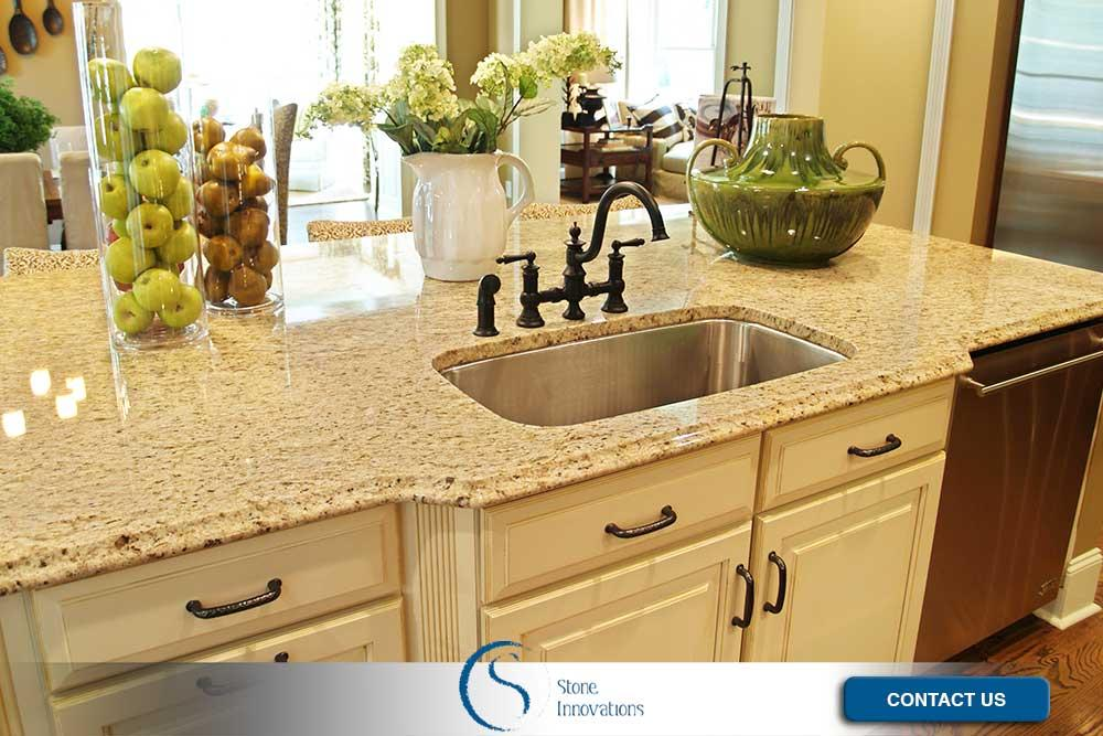 Solid Surface Kitchen Countertops in Nichols Wisconsin.